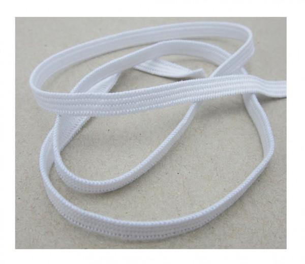 Gummiband für Maskenherstellung, 6mm breit, weiß