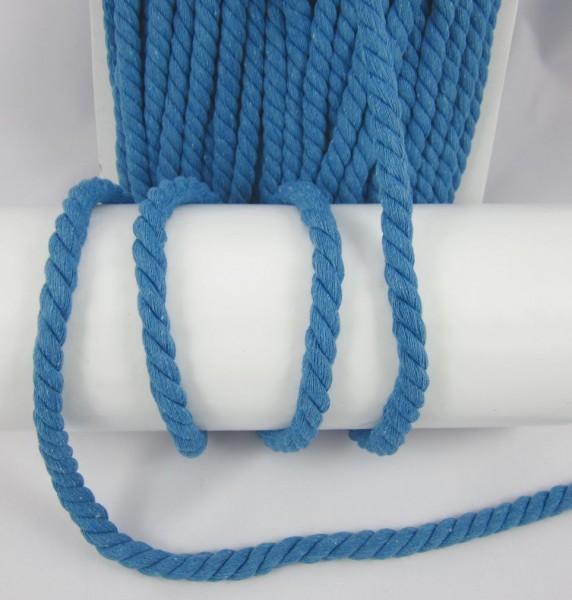 Baumwollkordel, gedreht, 14mm, blau