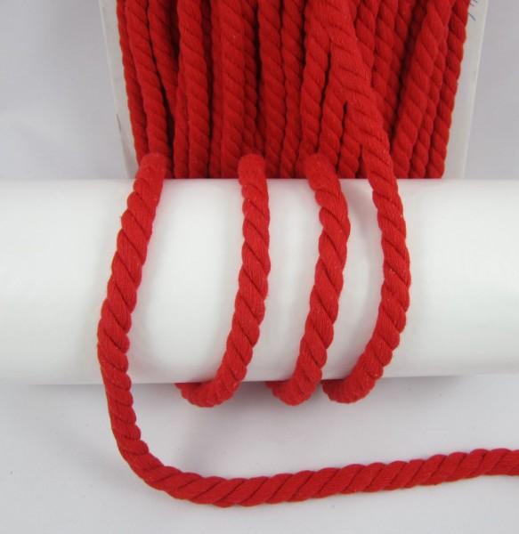 Baumwollkordel, gedreht, 14mm, rot