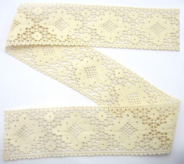 Klöppelspitze, Baumwolle, creme, 60mm breit