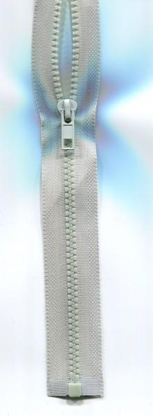 Jackenreißverschluss hellgrau