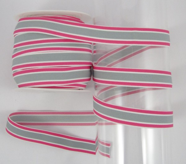 Gestreiftes Band, pink