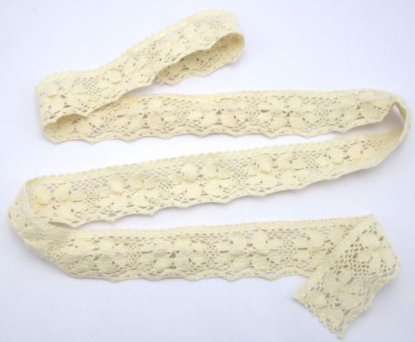 Klöppelspitze, Baumwolle, 35mm breit