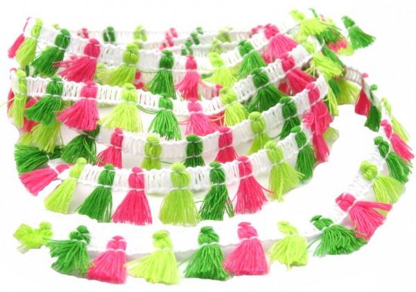 Fransen Pompon, 5 Farben verfügbar, 15mm breit