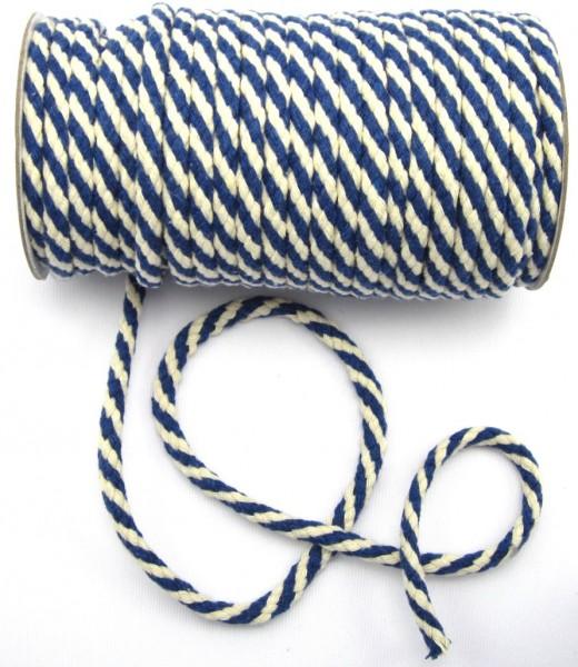Kordel, Baumwolle, 8mm, 10 verschiedene Farben
