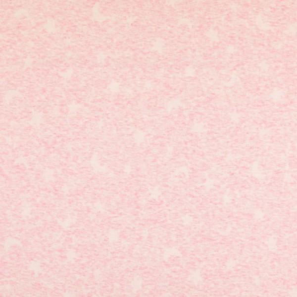 Jersey Stoff, Sterne, rosa