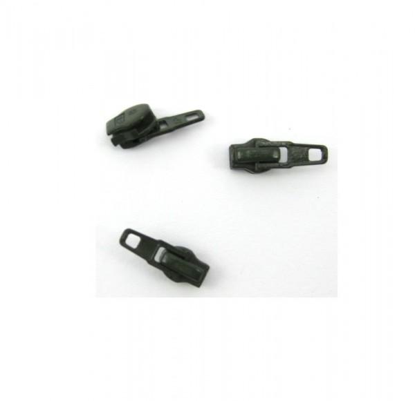 Schieber für Spiral Reißverschluss 4mm - tarngrün