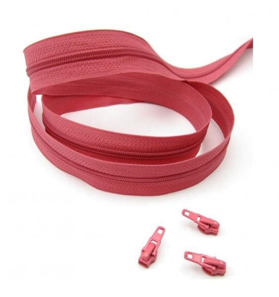 Endlosreißverschluss, 4mm Spirale - lachsrot
