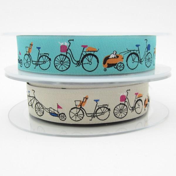 Fahrrad-Motiv, 22mm breit, 2 Farben zur Auswahl