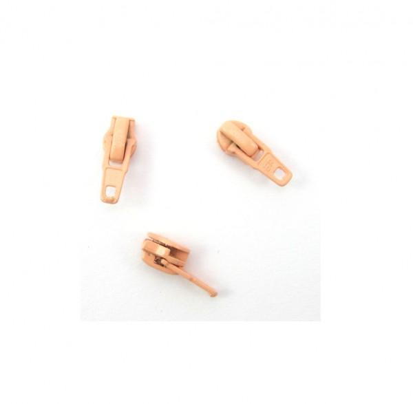 Schieber für Spiral Reißverschluss 4mm - lachsrosa