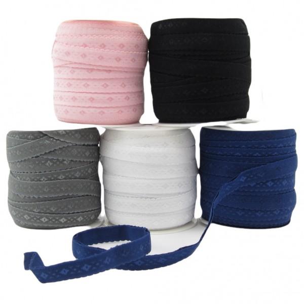 Unterwäsche Gummiband vorgefalzt, 11mm breit