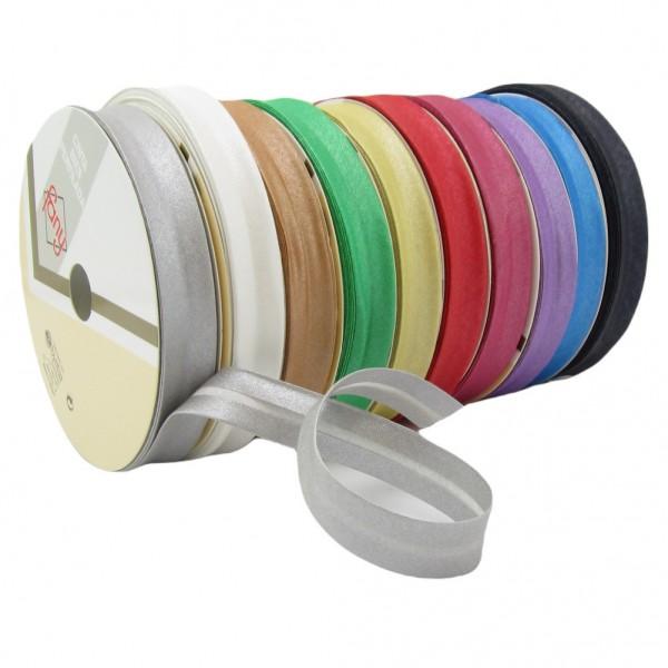 Schrägband mit Glitzer, 18mm breit