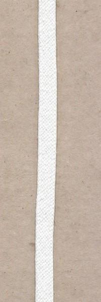 flache Baumwollkordel 10mm weiss
