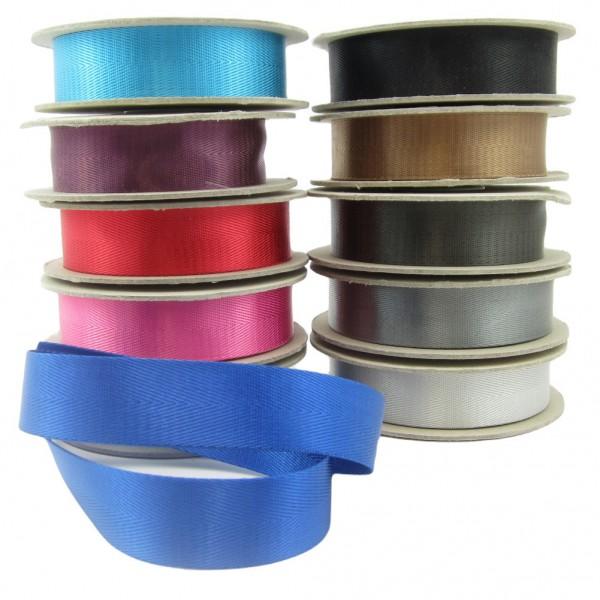 Gurtband glänzend, 30mm breit