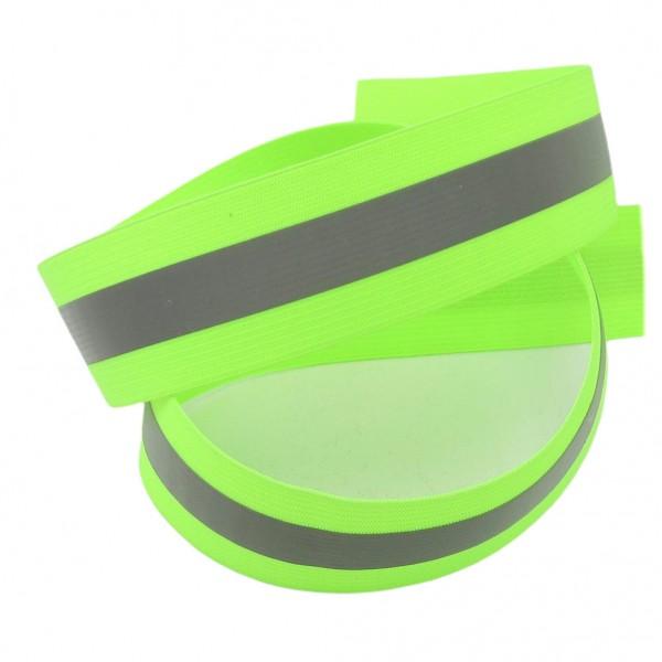 Gummiband, reflektierend, hellgrün, 37mm breit