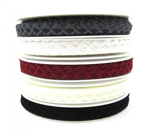 Elastische Spitze, 15mm breit - 5 Farben lieferbar