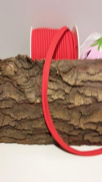 Paspel mit Kunststoffschnur, rot