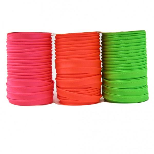 Paspelband Satin, Fluoreszierend, 10mm breit