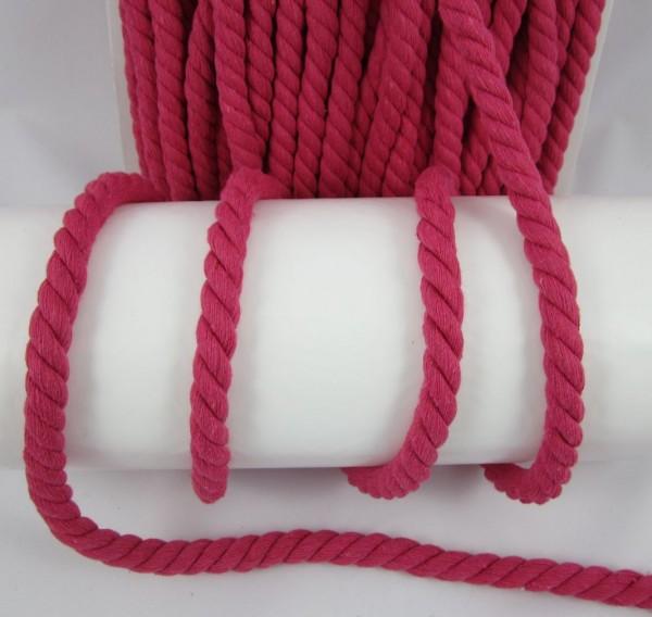 Baumwollkordel, gedreht, 14mm, pink
