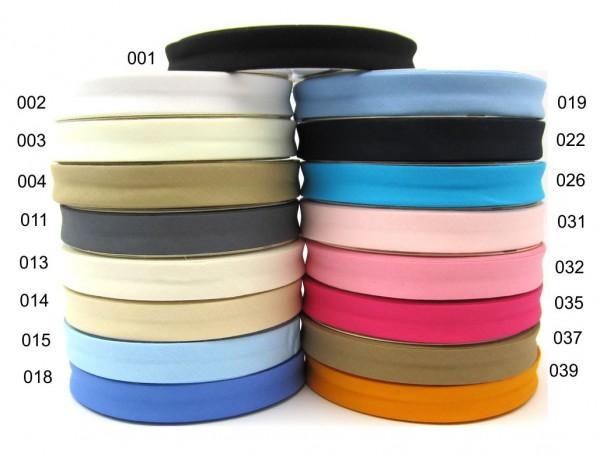 Baumwolle-Schrägband - 18mm - Uni - 17 Farben