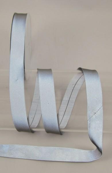 Schrägband, reflektierend, grau, 20mm
