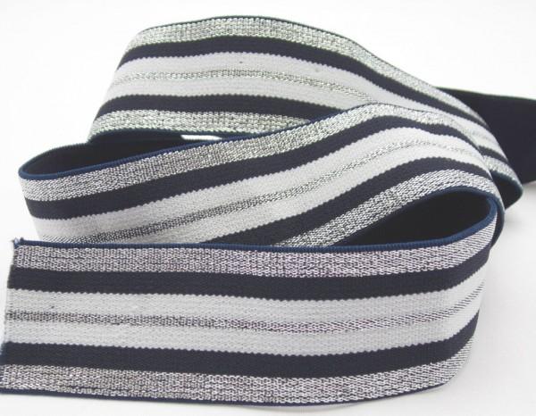 Gummiband mit Streifen, 40mm, 7 Farben lieferbar
