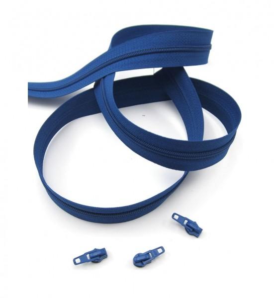 Endlosreißverschluss, 4mm Spirale - blau