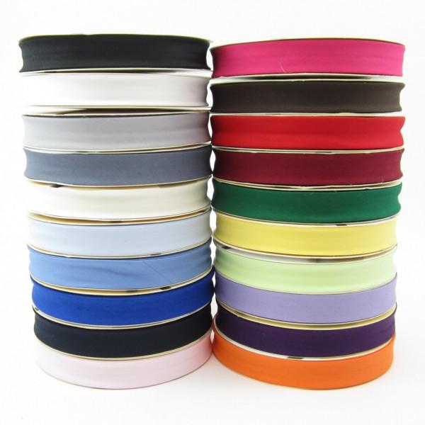 Elastisches Schrägband,18mm breit, 20 Farben zur Auswahl