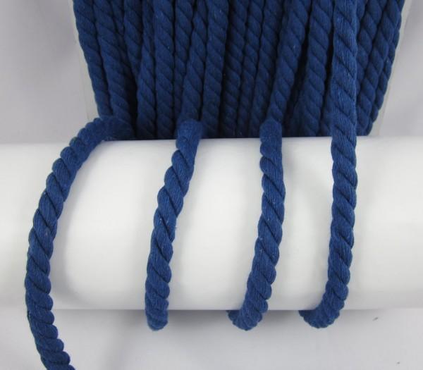 Baumwollkordel, gedreht, 14mm, dunkelblau