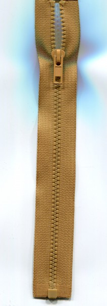 Jackenreißverschluss hellbraun