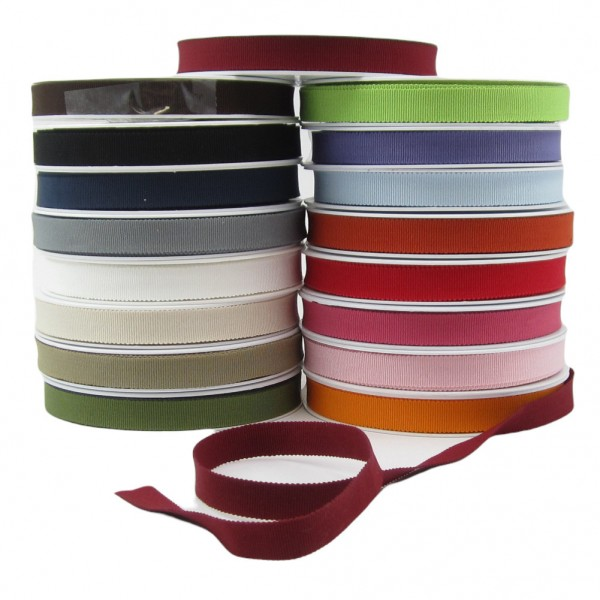 Baumwolle Ripsband, 15mm breit