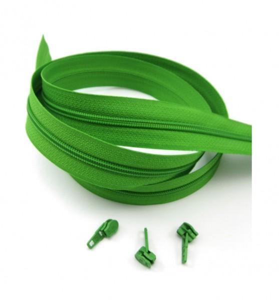 Endlosreißverschluss, 4mm Spirale - maigrün