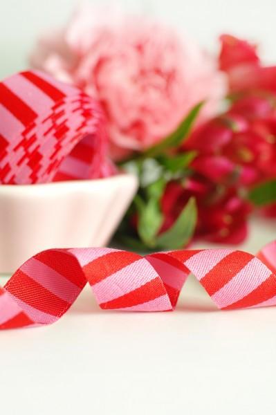 Ringelwebband, rot oder pink
