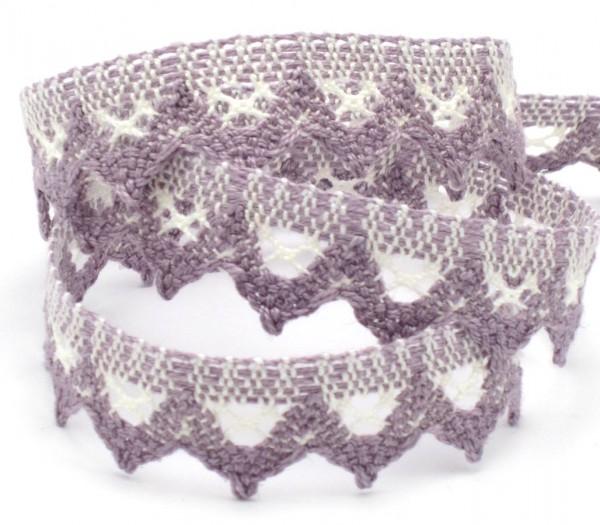Baumwollspitze, violett, 20mm breit