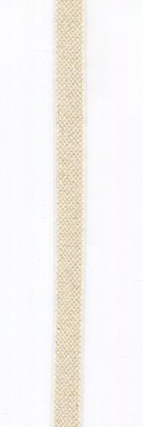 flache Baumwollkordel 10mm creme