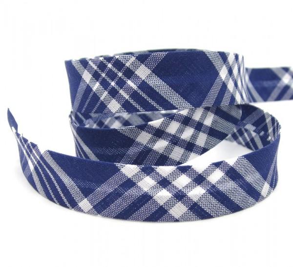 Schrägband Schottenkaro, 18mm breit, 4 Farben lieferbar