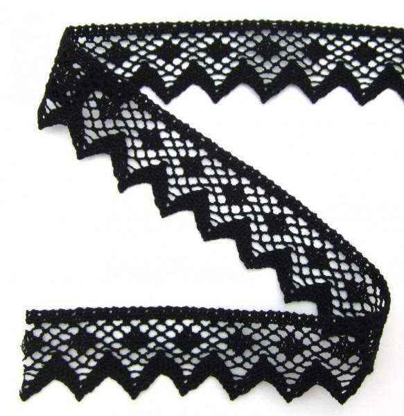 Baumwollspitze, schwarz, 45mm breit
