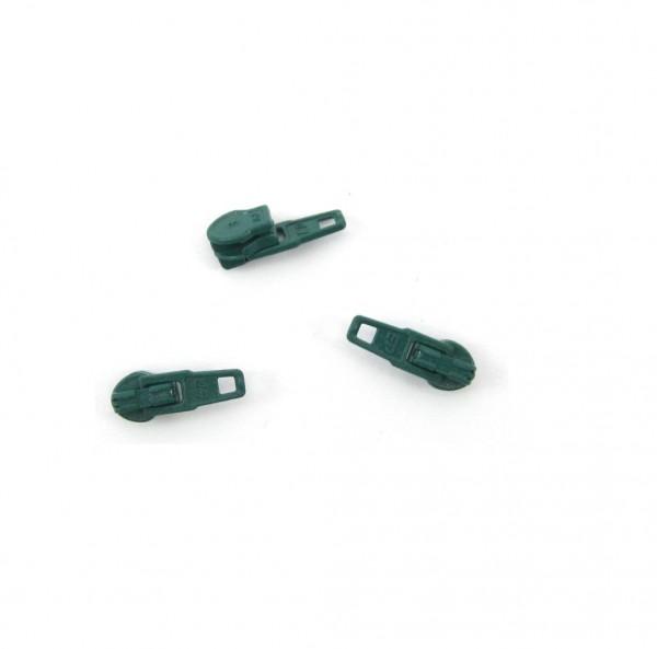 Schieber für Spiral Reißverschluss 4mm - moosgrün