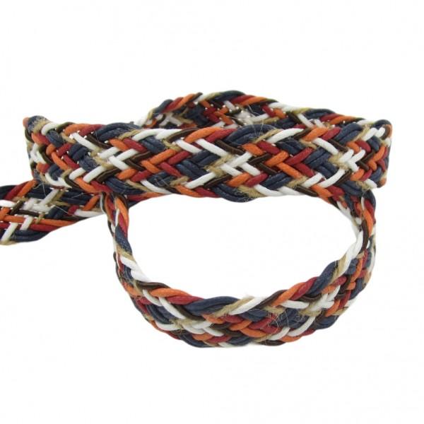 Gurtband geflochten multicolor 25mm breit