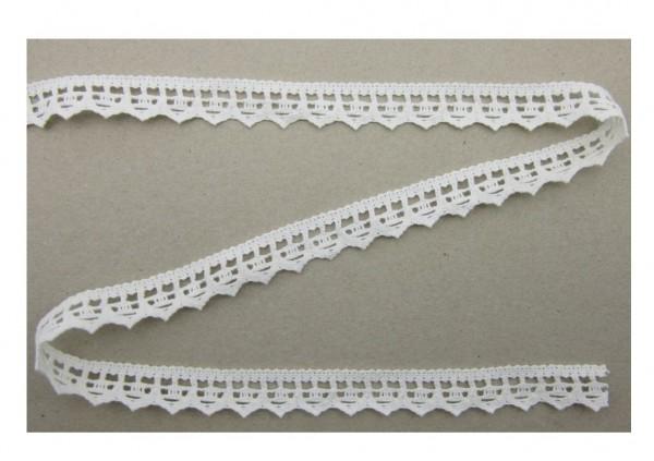 Spitze, Baumwolle, 19mm breit, weiß