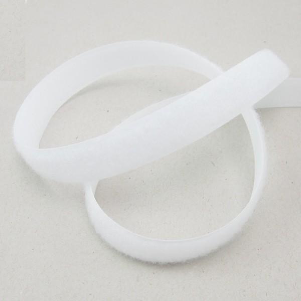 Flauschband für Klettverschluß, selbstklebend, 20mm breit, weiß oder schwarz