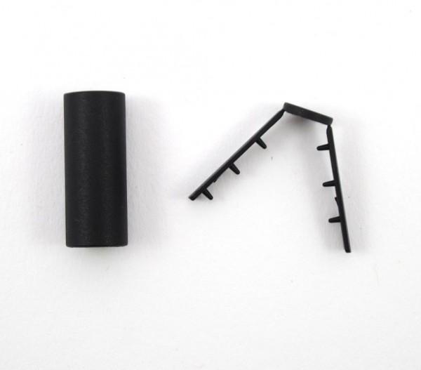 Kordelende für weiche geflochtene Kordeln, schwarz, 4 Größen lieferbar