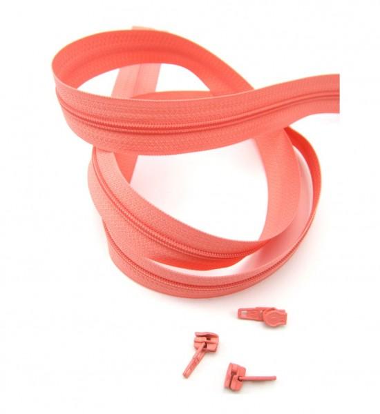 Endlosreißverschluss, 4mm Spirale - altrosa