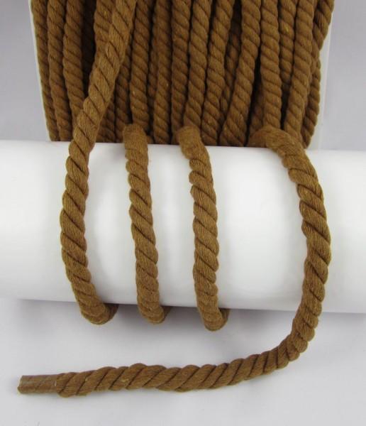 Baumwollkordel, gedreht, 14mm, braun