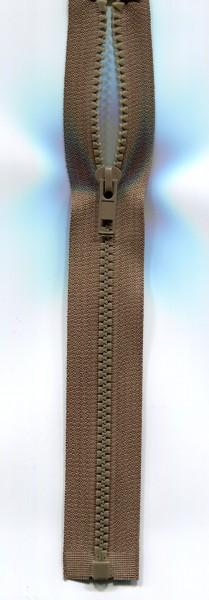 Jackenreißverschluss braun