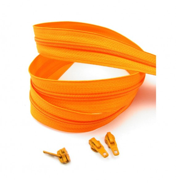 Endlosreißverschluss, 4mm Spirale - orange