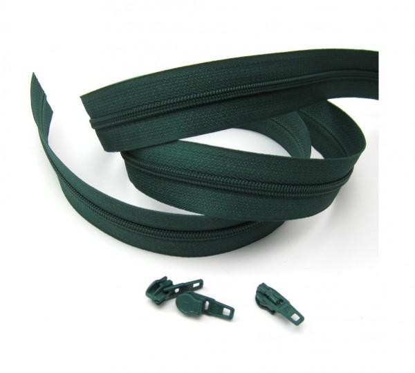 Endlosreißverschluss, 4mm Spirale - moosgrün