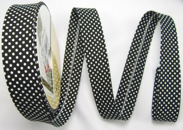 Schrägband mit Punkte, 30mm, 16 Farben, Meterware