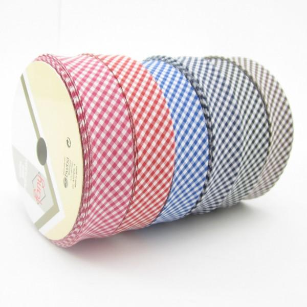 Vichy Karo mini Schrägband, 30mm breit, 6 Farben zur Auswahl
