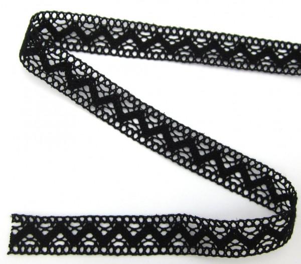 Baumwollspitze, schwarz, 24mm breit